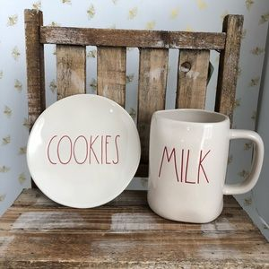 Rae Dunn Milk Cookies Mug Set